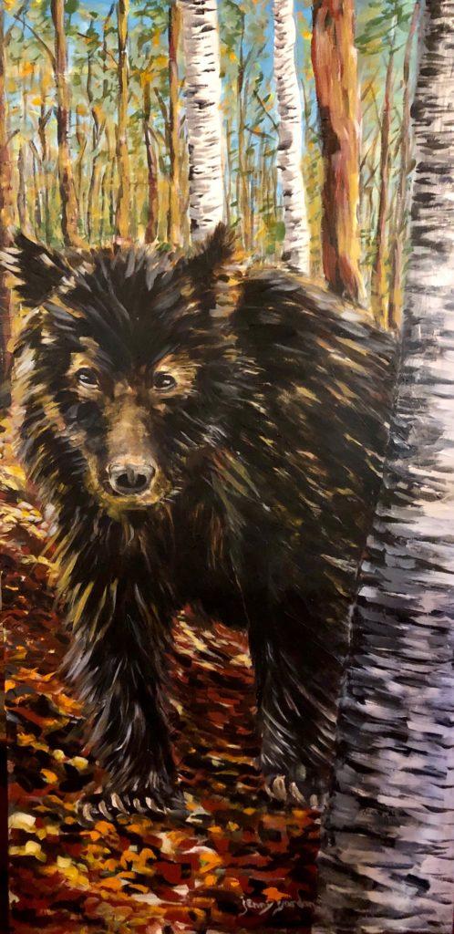 Painting by Jenny Gordon of a black bear