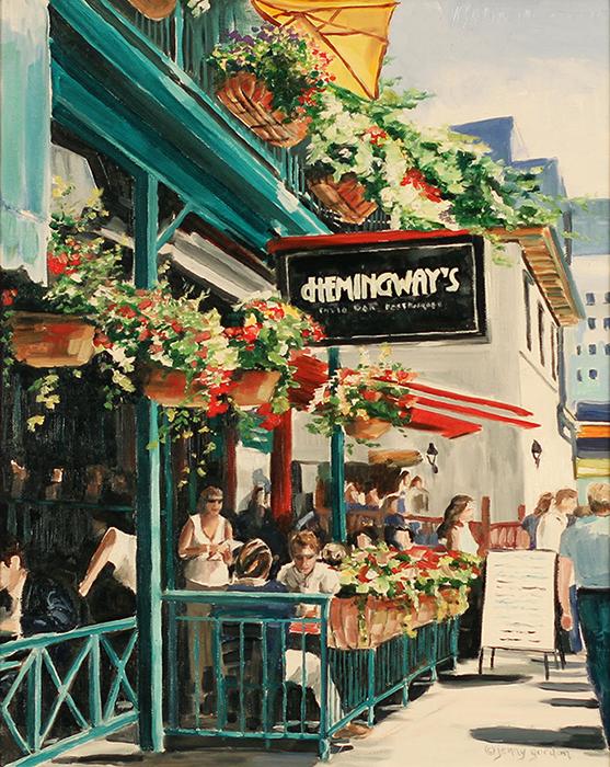 Painting of Hemingways Restaurant Toronto by Jenny Gordon