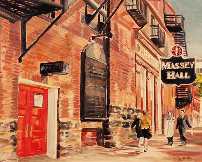 Painting of Massey Hall Theatre Toronto by Jenny Gordon