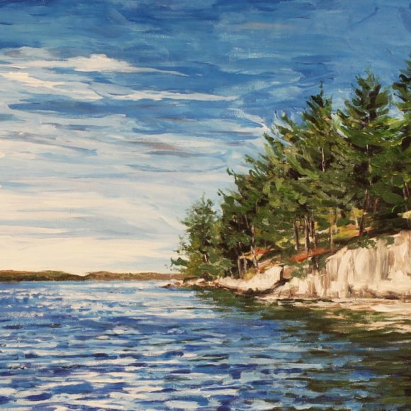Rockface Shoreline Chandos Lake