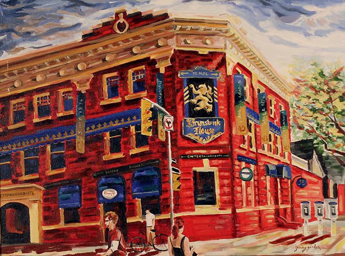 Painting of The Brunswick House Toronto by Jenny Gordon