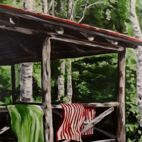 The Log Porch Guest Cabin
