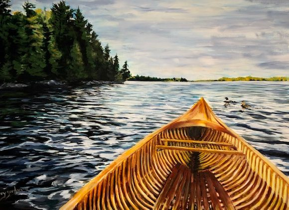 Paddling with the Loons