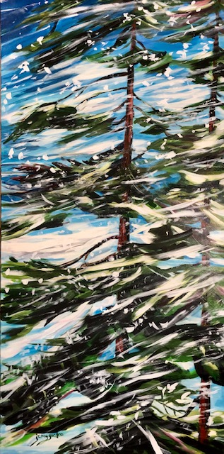 Painting of a winter blizzard by Jenny Gordon